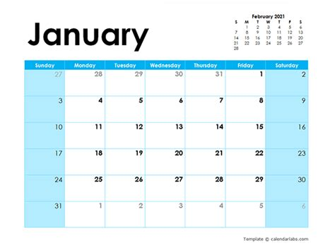 blank calendar colorful design  printable templates