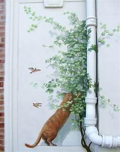 Mur Trompe L Oeil : trompe l 39 oeil sur un mur ext rieur creat on le blog de dominique desm ~ Melissatoandfro.com Idées de Décoration