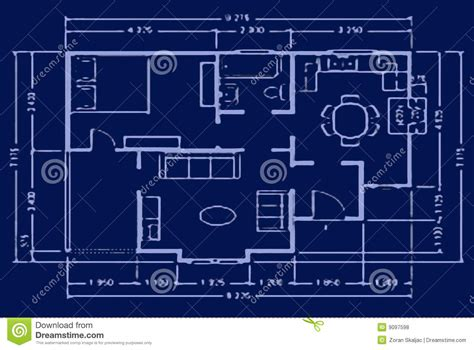 blue prints house blueprint house plan royalty free stock photos image 9097598