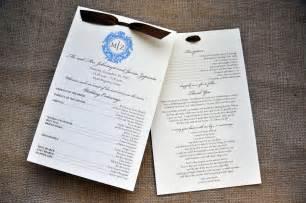 wedding reception program wedding programs for the reception wiregrass weddings