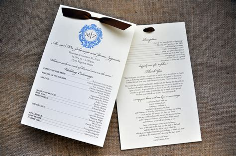 Wedding Programs For The Reception?