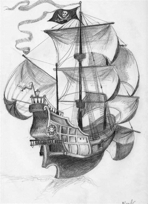 Black Pearl Ship Drawing at PaintingValley.com   Explore