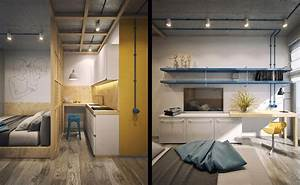 Chic, Small, Studio, Apartment, Use, A, Space, Splendidly, To, Make, It, Looks, Spacious