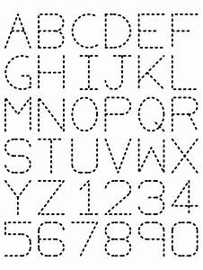 alphabet tracing laminate and use dry erase markers With dry erase traceable letters