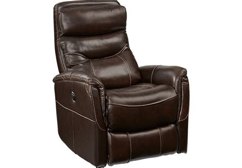 leather glider recliner with cindy crawford home bello brown leather power glider