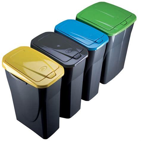 poubelle tri selectif cuisine poubelle de tri sélectif cuisine 25 litres couvercle jaune