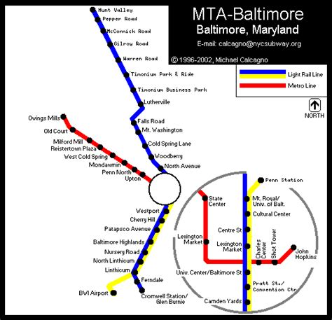 baltimore light rail map world nycsubway org baltimore light rail
