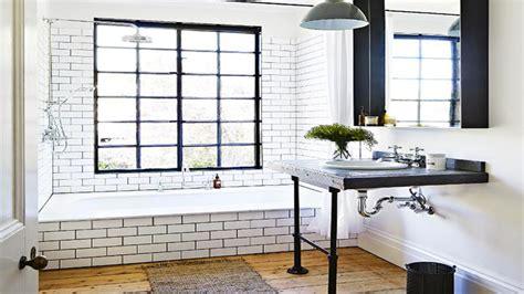 salle de bain noir  blanc carrelage leroy merlin