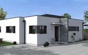 Maison Moderne Toit Plat : maison toit plat partiel maisons bati sud ~ Nature-et-papiers.com Idées de Décoration