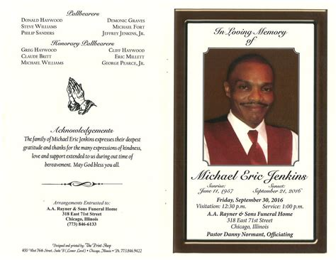 Michael Eric Jenkins Obituary