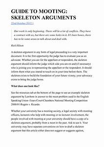 Guide To Mooting Skeleton Arguments
