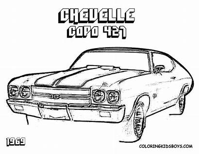 Coloring Camaro Chevy Chevelle Cars Chevrolet Adult