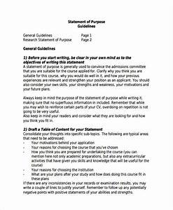Statement of purpose examples role model essays statement of