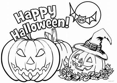 Coloring Halloween Lantern Jack Printable Pages Pumpkins