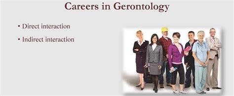 gerontology careers  majors