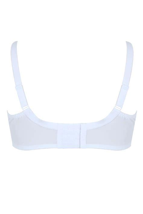White Glamour Lace Mesh Underwired Bra
