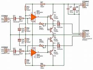 Simple Quality Headphone Amplifier 12v Ne5534an Headphone