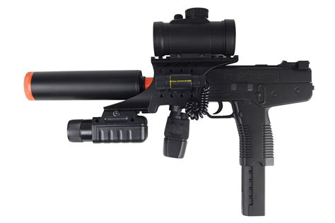UK Arms TMP SMG Spring Pistol Airsoft Gun With Mock