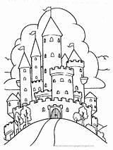 Coloring Castle Princess Colorare Principessa Castello Pagina Printable Castles Drawing Draw Printables sketch template