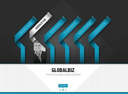 global business flash website template  website