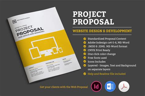 project proposal stationery templates creative market