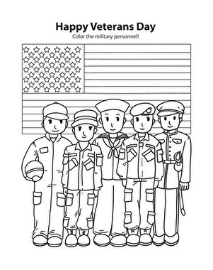happy veterans day worksheet education