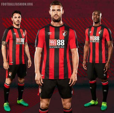 #nathan ake #afc bournemouth #bournemouth #english premier league #barclays premier league #premier league #epl #bpl #soccer #football. AFC Bournemouth 2017/18 Umbro Home Kit - FOOTBALL FASHION.ORG