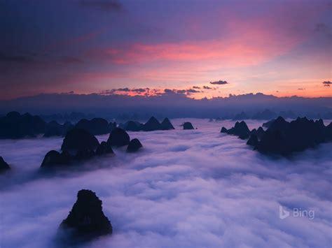 huangshan mountains  china  bing desktop wallpaper