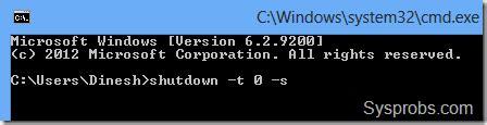 shutdown windows    desktop  laptop