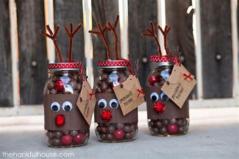 reindeer noses mason gift jars pinlaviecom