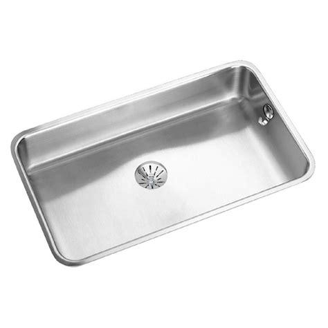 stainless steel single bowl undermount kitchen sink elkay lustertone undermount stainless steel 31 in single