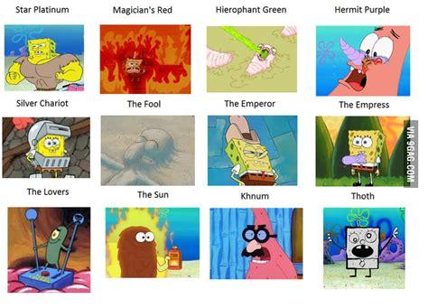 Spongebob Jojo Memes - jojo stands in spongebob screenshots 1 9gag