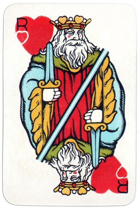 king  hearts medieval playing cards deck  images