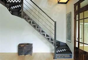 Escalier Métallique Industriel : escalier m tallique de style industriel photo dt36 esca 39 droit 2 quarts tournants marches ~ Melissatoandfro.com Idées de Décoration