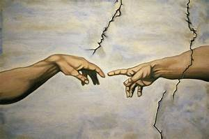 Michelangelo Creation Of Adam The Hands Painting by Adam ...