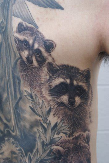 raccoon tattoos