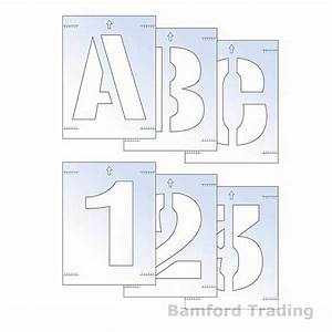 36 100mm laser cut letter and number stencil kit with With laser cut letters and numbers