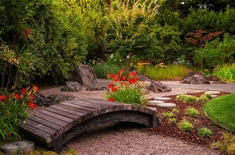 small japanese gardens photos a small garden bridge for your japanese garden decoist