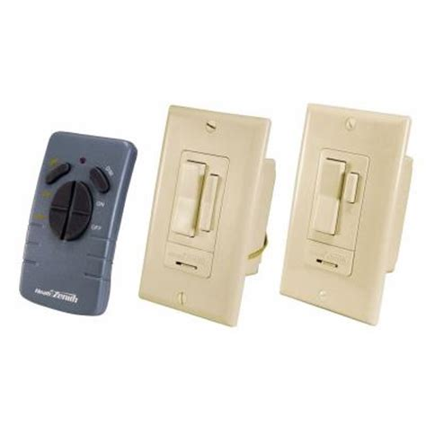 wireless light switch home depot heath zenith indoor 3 way ivory wall switch sl