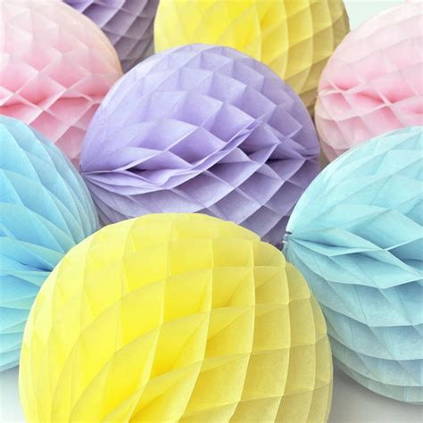 Tissue Paper Honeycomb Ball Party Decoration By Peach