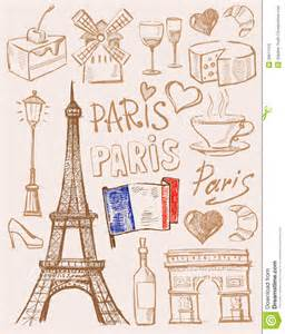 Vector Hand Drawn Paris Illustration Royalty Free Stock
