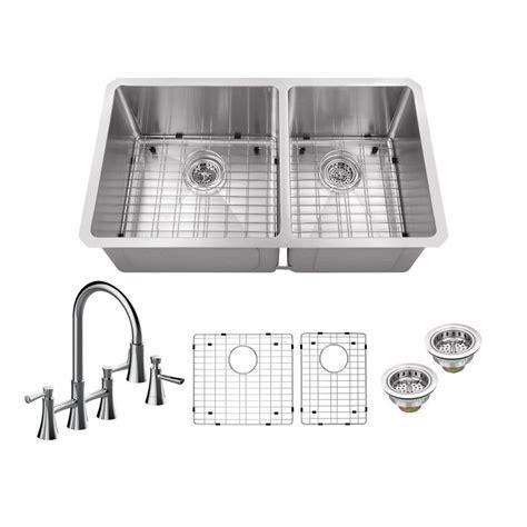 schon kitchen sinks schon all in one undermount stainless steel 32 in