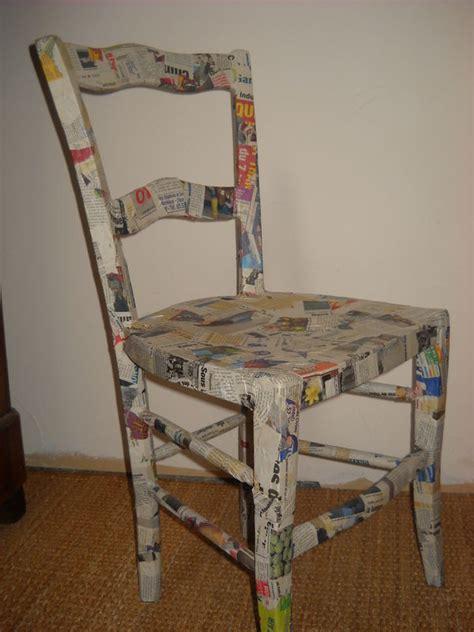 chaise recouverte de papier m 226 ch 233 photo de objets le d emilia et ses cr 233 ations
