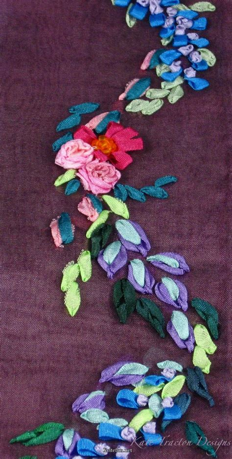 ribbon embroidery decorate  home xcitefunnet