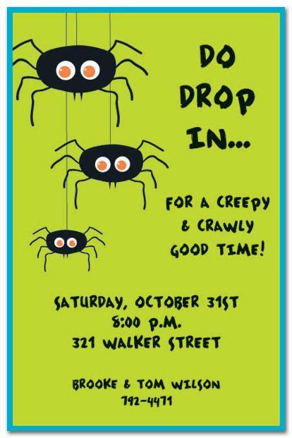 Image result for spider halloween invitation wording