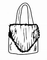 Coloring Purse Purses Printable Shopping Entertainment sketch template