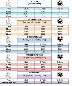 plans prices pet care by mafe llc With dog sitting rates