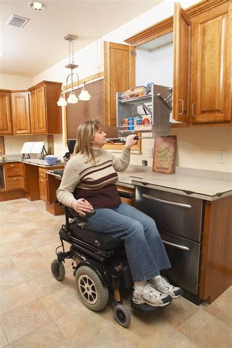 Kitchen Organization For Elderly by Pull Shelving Cabinets For Elderly Or Disabled
