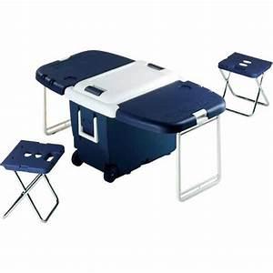 Table Et Chaise Camping : cette glaci re table int gre table et chaises de camping ~ Nature-et-papiers.com Idées de Décoration
