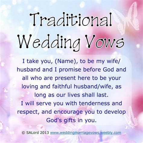 traditional wedding marriage vows wedding marriage vows